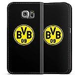 DeinDesign Samsung Galaxy S6 Leder Flip Case Tasche Hülle BVB Logo Borussia Dortmund