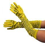Guantes largos deluxe estilo años 20 para mujer de Foxxeo 1002X, en los colores negro, blanco, rojo, rosa, violeta, amarillo, gris, plateado, azul, dorado, verde
