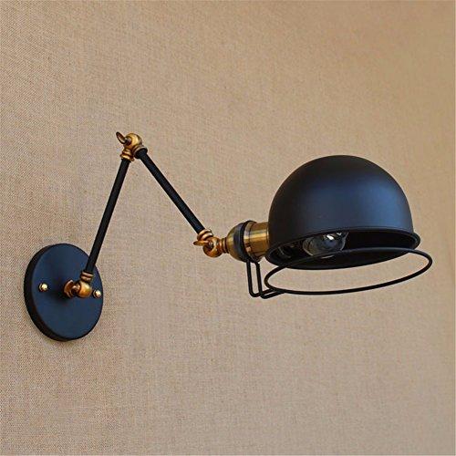 Wand lampDesigner RH französischen Industriellen retro kreative Balkon loft Amerikanische Europäischen mechanischen Arm doppelte Wand Lampe, schwarz, 30 + 30 cm (Beleuchtung - Französischen Lampe Bad Eisen)