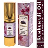 Peau D'origine Facial Oil For Glowing Skin with Saffron and Pure Gold   Facial Massage Oil For Face   Night Serum For Face Glow   Pure Kumkumadi Tailam