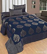 Premium Chenille Bed Cover with 2 Pillow Covers from Smiling Home | King Size