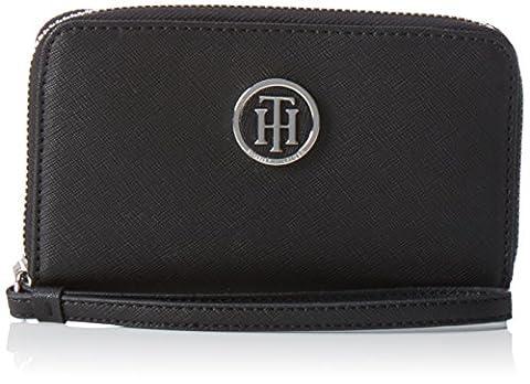 Tommy Hilfiger Damen Honey Med ZA Wallet Geldbörsen, Schwarz (Black 002 002), 10x9x2 cm