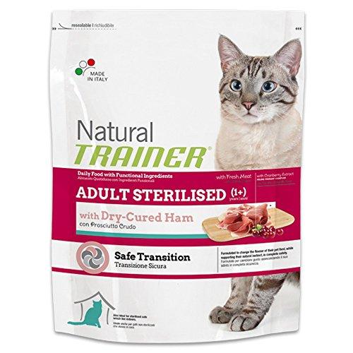 TRAINER Natural sterilized con prosciutto crudo 12,5kg Mangimi secchi per gatti