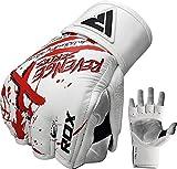 RDX MMA Handschuhe Profi Rindsleder UFC Kampfsport Sparring Freefight Sandsack Trainingshandschuhe Grappling Gloves