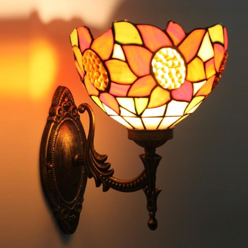 Uncle Sam LI - tournesol européenne lampe chaude miroir lumières de chevet jardin chambre à fuselage large lampe murale de coin escaliers