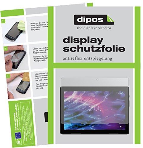 dipos I 2X Schutzfolie matt passend für Medion Lifetab E10604 Folie Bildschirmschutzfolie