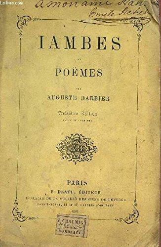 IAMBES ET POEMES / TREIZIEME EDITION.