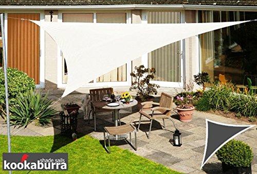 Tenda a Vela Kookaburra per Feste resistente all'acqua - Triangolo Rettangolare 6,0m x 4,2m - Avorio