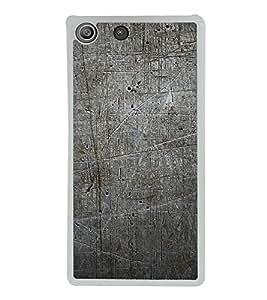 Grey Pattern 2D Hard Polycarbonate Designer Back Case Cover for Sony Xperia M5 Dual :: Sony Xperia M5 E5633 E5643 E5663