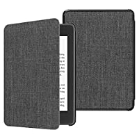 Fintie Slimshell Case for All-new Kindle Paperwhite (10th Generation, 2018 Release) - Premium Lightweight PU Leather Cover with Auto Sleep/Wake for Amazon Kindle Paperwhite E-reader (Denim Charcoal)
