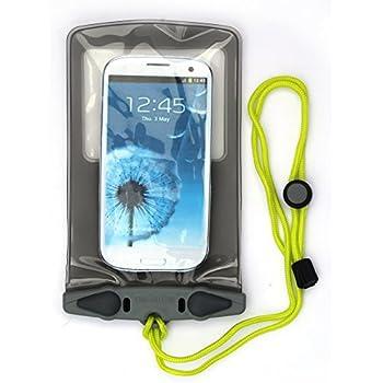 AQUAPAC wasserdichte iPad/Tablet-Tasche, transparent/grau