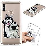 Klassikaline® Handy-Hülle TPU Silikon Xiaomi Mi 6X Hülle, Etui Protective/Case / Cover/Zubehör / Silikon hülle/Schutz-Cover - Selfie Hund