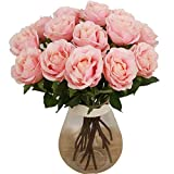 toechmo Hochwertige Künstliche Blumen, real touch Blumen Silk künstliche Rose Blumen Home Dekorationen für Brautschmuck Hochzeit Bouquet, Geburtstag Blumen Strauß Hotel Party Garten floral Decor Pink