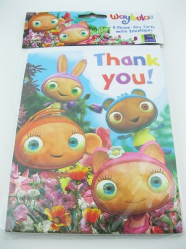 thank you cards - waybuloo - 6pk by Waybuloo
