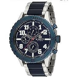 Bigotti Milano BGT06250E Gents Stainless Steel Blue Multidial Date Watch