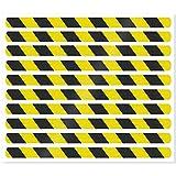 Anti-Rutsch-Streifen für Treppenstufen / 65 x 3 cm / 10 Stück/gelb reflektierend/selbstklebend