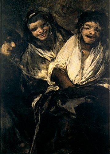 millesime-fransisco-goya-deux-femmes-et-un-homme-environ-1819-23-sur-format-a3-papiers-brillants-de-