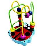 Tefamore-Juguete Educativo De Los Cabritos Bebé Colorido Mini De Madera Alrededor De Los Granos (Multicolor)