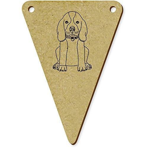 Azeeda 5 x 70mm 'Beagle Welpe' Wimpel / Banner aus Holz (BN00025300) (Welpen-flag)