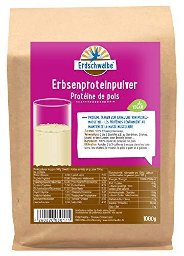 Erdschwalbe Erbsenprotein - 85{6b796543a4239c1b1367e23a2cd524805aadc6e7c20bc808cff3e1f780ac2a56} Proteingehalt - Veganes Eiweißpulver - 1 Kg