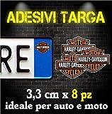 Adesivi Targa Bollino harley-davidson per Auto & Moto (8 pz)