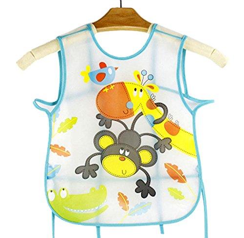 Baberos Impermeables del bebe, Holacha Baberos Translúcido de EVA plastico patron de animales para Bebé Niño