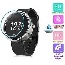 Voguecase® Para LG G Watch R W110 Smartwatch 9H Borde Arc Protector Pantalla Glass Vidrio templado Protector de pantalla Claro