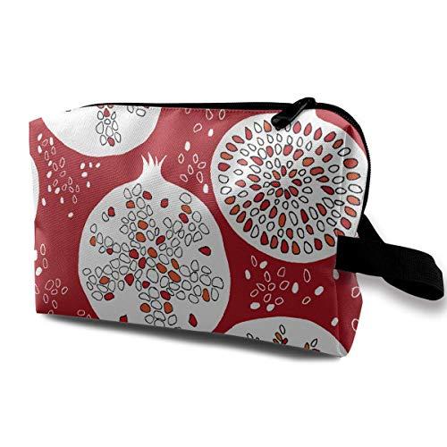 Mit Wristlet Kosmetiktaschen Granatäpfel Stücke Reisen Tragbare Make-up Tasche Reißverschluss Brieftasche Hangbag - Funktioniert Granatapfel