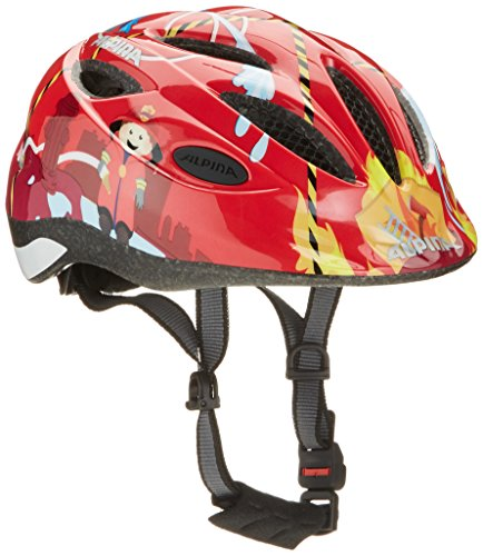 Alpina Kinder Radhelm Gamma 2.0, Red Firefighter, 46-51, A9692.0.54 (Freestyle-ski)
