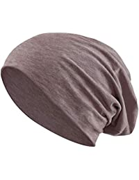 ab888aa20 Jersey Cotton Elastic Long Slouch Beanie Men   Ladies Unisex Hat Heather in  35 (3