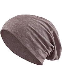 bced11338cc Jersey Cotton Elastic Long Slouch Beanie Men   Ladies Unisex Hat Heather in  35 (3