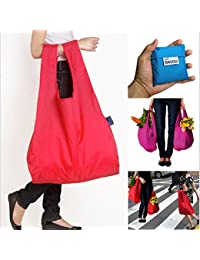 EasyBuy India Red : Easy To Carry Reusable Reusable Shopping Folding Eco-friendly Baggu Nylonshopping Bag Storage...