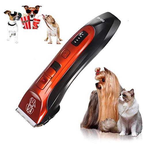 Haarschneidemaschine Für Tiere,Profi HaarschneiderHunde-Haarschneidemaschine Schnurloses, geräuscharmes, wiederaufladbares Trimmer-Haar-Elektrorasierer-Set