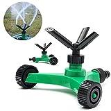 #6: Generic 3 Arms Garden Lawn Sprinkler Garden Yard Irrigation System 360 Degree Sprayer Head Garden Lawn Water Saving Gardening Tools
