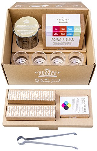 The Greatest Candle In The World Welcome Kit de Eco Velas Diy Cera Vegetal Blanco 24 x 20 x 15 cm
