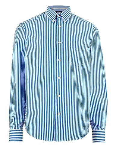 fa-m-ou-s-store-pure-cotton-long-sleeve-wide-bengal-striped-shirt-blue-16-ll-0269