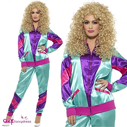 Smiffy's 43130M 80's Height of Fashion Shell Suit Female Costume (Medium)