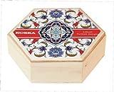Koska Kokos Beschichtet Pistazie Hazlenut Turkish Delight in Schönen Hölzernen Hexagon Andenken Geschenkverpackung 250
