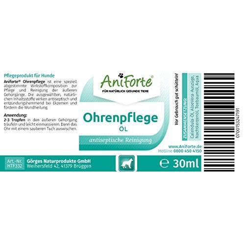 AniForte Ohrenpflege 20 ml – Naturprodukt für Hunde - 2