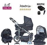 Chilly Kids Matrix II Kinderwagen Safety-Set (Autositz & ISOFIX Basis, Regenschutz, Moskitonetz,...