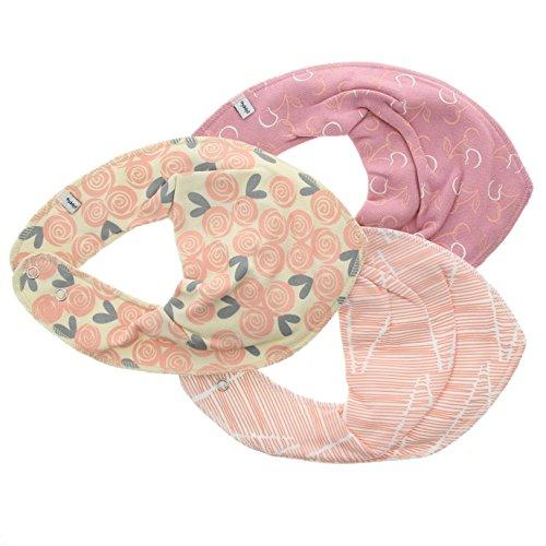 Pippi 3er Pack Baby Mädchen Halstuch mit Aufdruck, Farbe: Rosa und Weiß, One Size, 3815 - Kleidung, Marke Baby-mädchen