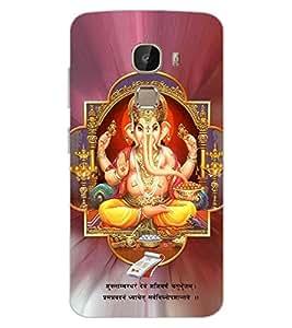 ColourCraft Lord Ganesha Design Back Case Cover for LeEco Le 2