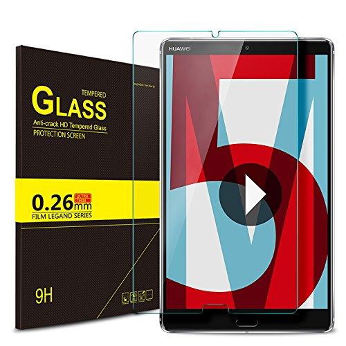 IVSO Huawei MediaPad M5 8.4 Schutzfolie, 9H Hardness aus, Klar Anti-Kratz, Glas Folie Schutzfolie Glas Panzerfolie Displayfolie Displayschutzfolie für Huawei MediaPad M5 8.4 Zoll 2018, (1 Packungen x) -