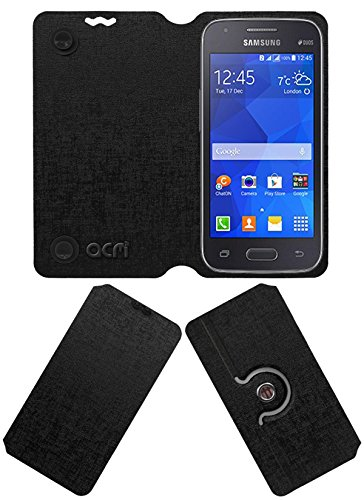 Acm Designer Rotating Flip Flap Case for Samsung Galaxy S Duos 3 Sm-G313hu Mobile Stand Cover Black  available at amazon for Rs.399