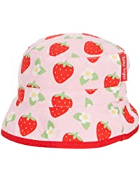 Toby Tiger - Bonnet Fille - Pink Strawberry Reversible Sunhat