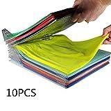 10pcs pieghevole stoccaggio di schede rack cartella di vestiti durevole lavanderia organizzatore nessuna ruga