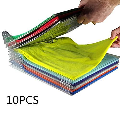 JIUHUIDIAN Garderobe für Kleidung Folder Organizer Folder Folder Folder Folder Folder Organizer Organizer T-Shirt-System 20 Stück/Set Strapazierfähiger Wäsche-Organizer ohne Falten
