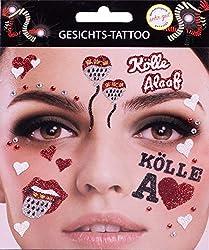 Gesichts-Tattoo Kölle Alaaf Köln Zunge Wappen Karneval