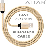 ALIAN Micro USB Cable (Nylon Braided, Tangle Free, USB-IF Complaint, 2.4A Output) (1 Meter)