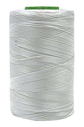 Telephone Threads Packung mit 10 Stück 2 Ply Gewinde Art Seidengarn Weiß 680 Mtr Maschinensticken -